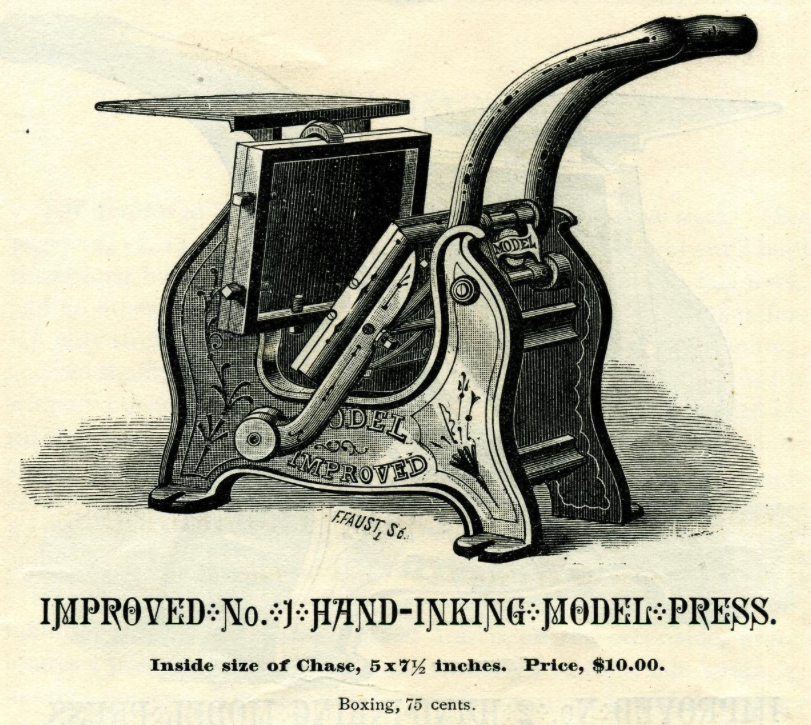 "Image of a Daughaday ""Model"" Printing Press"